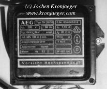 Jochen's High Voltage Page : Oil Burner Ignition Transformers on
